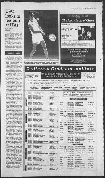 Daily Trojan, Vol. 130, No. 27, February 20, 1997