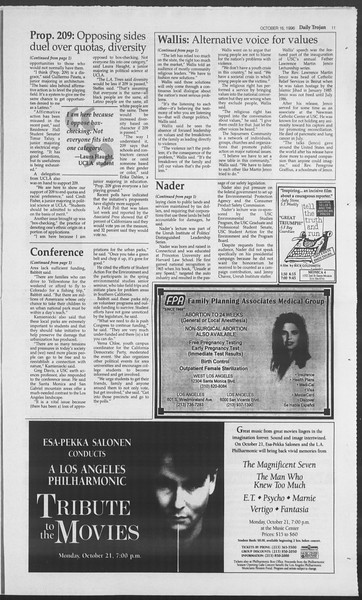 Daily Trojan, Vol. 129, No. 34, October 16, 1996