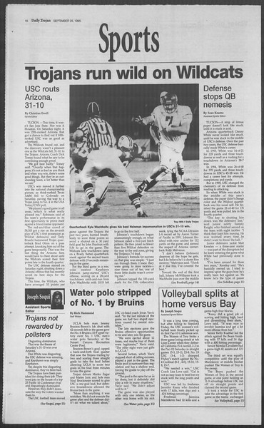 Daily Trojan, Vol. 126, No. 17, September 25, 1995