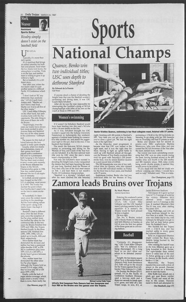 Daily Trojan, Vol. 130, No. 42, March 24, 1997