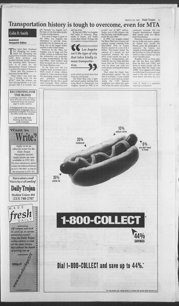 Daily Trojan, Vol. 130, No. 40, March 20, 1997