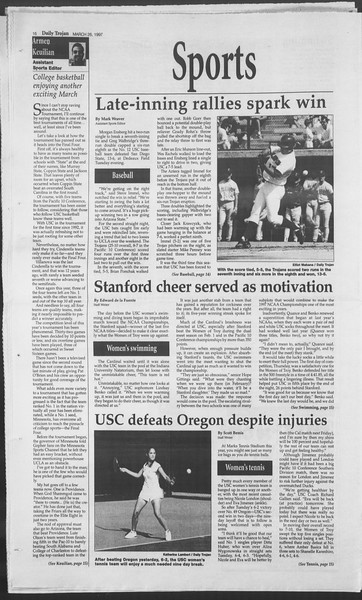 Daily Trojan, Vol. 130, No. 44, March 26, 1997