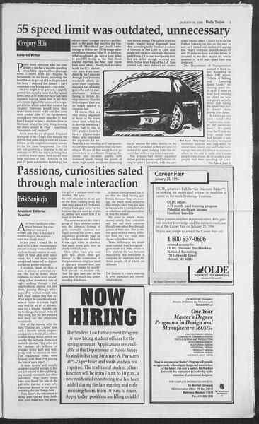 Daily Trojan, Vol. 127, No. 4, January 18, 1996