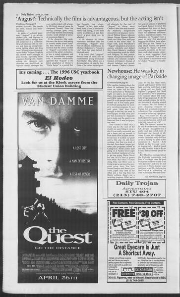 Daily Trojan, Vol. 127, No. 65, April 24, 1996