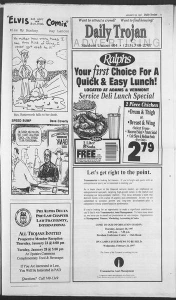 Daily Trojan, Vol. 130, No. 12, January 28, 1997