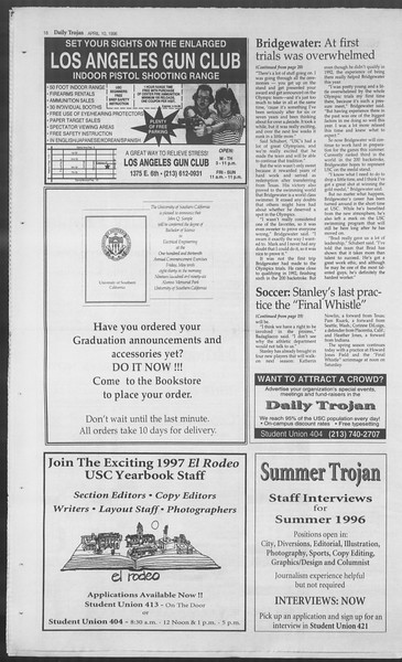 Daily Trojan, Vol. 127, No. 55, April 10, 1996
