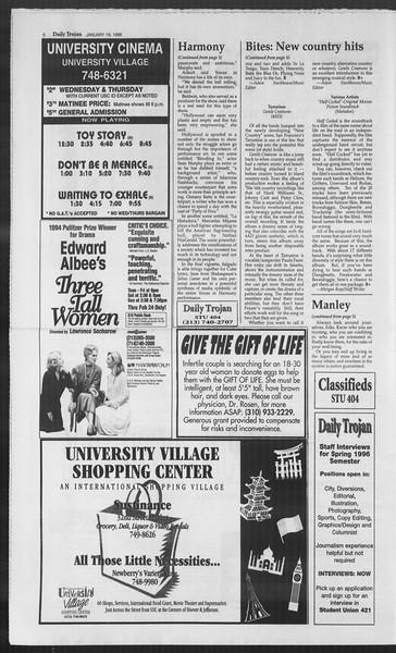 Daily Trojan, Vol. 127, No. 5, January 19, 1996