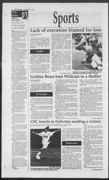 Daily Trojan, Vol. 129, No. 49, November 06, 1996