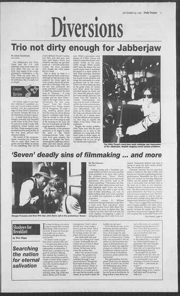 Daily Trojan, Vol. 126, No. 18, September 26, 1995