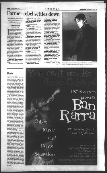 Daily Trojan, Vol. 142, No. 8, January 22, 2001