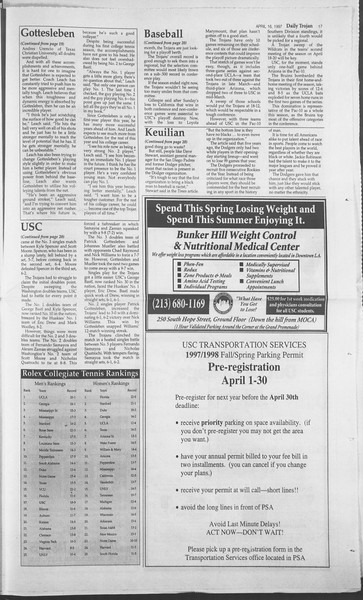 Daily Trojan, Vol. 130, No. 59, April 16, 1997