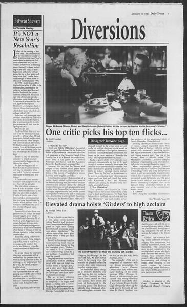 Daily Trojan, Vol. 127, No. 2, January 12, 1996