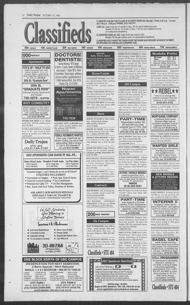 Daily Trojan, Vol. 126, No. 29, October 12, 1995