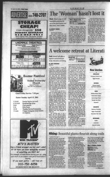 Daily Trojan, Vol. 142, No. 58, April 13, 2001