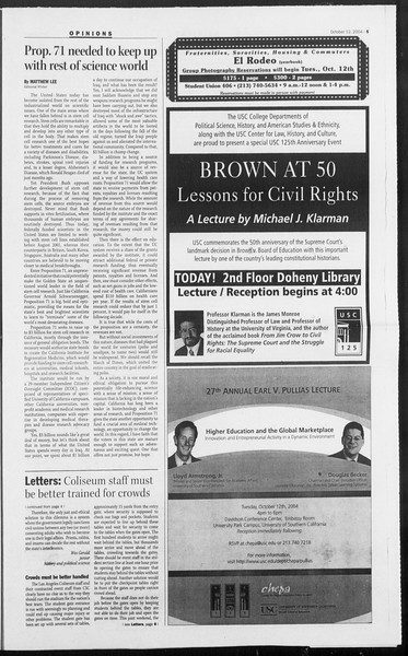 Daily Trojan, Vol. 153, No. 34, October 12, 2004