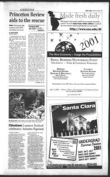 Daily Trojan, Vol. 142, No. 55, April 10, 2001