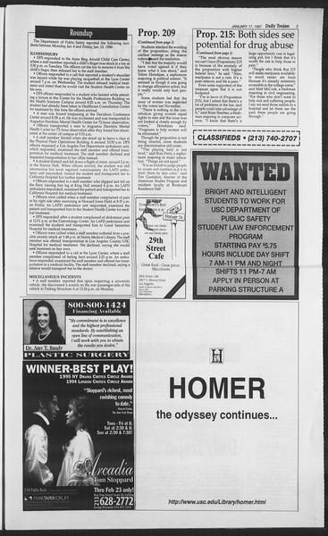 Daily Trojan, Vol. 130, No. 7, January 17, 1997