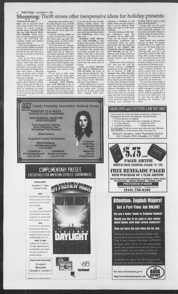 Daily Trojan, Vol. 129, No. 64, December 04, 1996