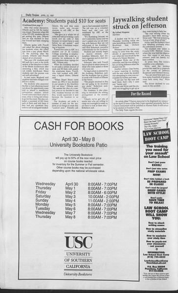 Daily Trojan, Vol. 130, No. 66, April 25, 1997