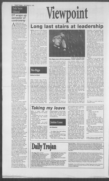 Daily Trojan, Vol. 126, No. 66, December 08, 1995