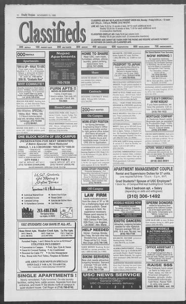 Daily Trojan, Vol. 126, No. 53, November 15, 1995