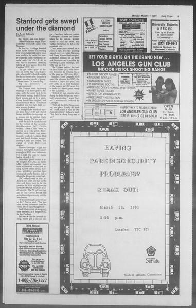 Daily Trojan, Vol. 114, No. 40, March 11, 1991
