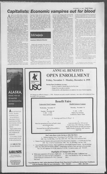 Daily Trojan, Vol. 126, No. 51, November 13, 1995