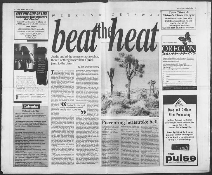 Daily Trojan, Vol. 130, No. 64, April 23, 1997