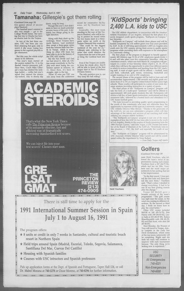 Daily Trojan, Vol. 114, No. 51, April 03, 1991