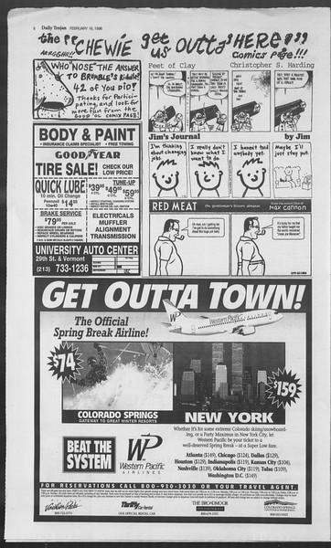 Daily Trojan, Vol. 127, No. 25, February 16, 1996