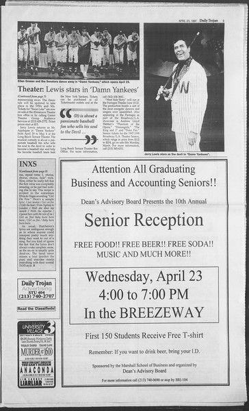 Daily Trojan, Vol. 130, No. 64, April 23, 1997