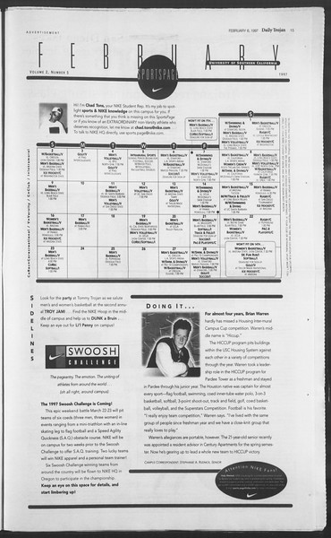 Daily Trojan, Vol. 130, No. 19, February 06, 1997