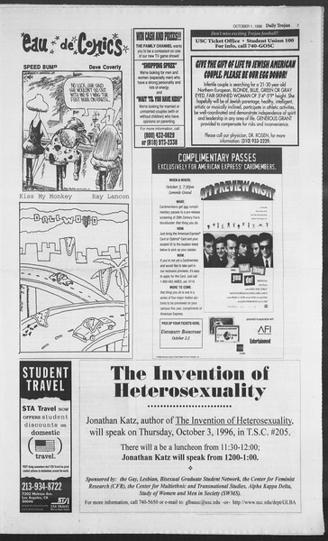 Daily Trojan, Vol. 129, No. 23, October 01, 1996