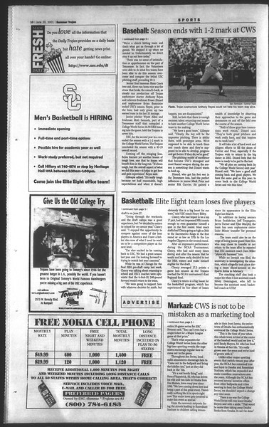 Daily Trojan, Vol. 143, No. 5, June 20, 2001