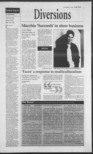 Daily Trojan, Vol. 129, No. 13, September 17, 1996