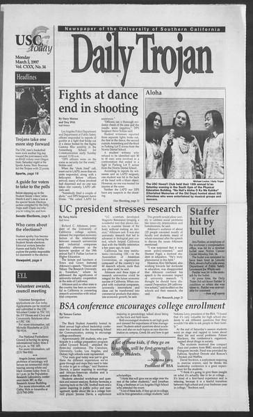 Daily Trojan, Vol. 130, No. 34, March 03, 1997