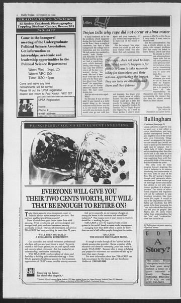 Daily Trojan, Vol. 129, No. 18, September 24, 1996