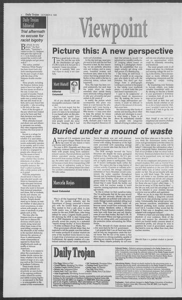 Daily Trojan, Vol. 126, No. 26, October 06, 1995