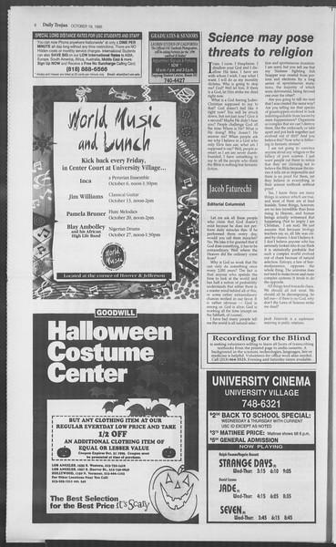 Daily Trojan, Vol. 126, No. 34, October 19, 1995