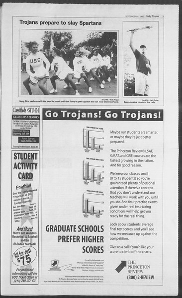 Daily Trojan, Vol. 126, No. 6, September 08, 1995