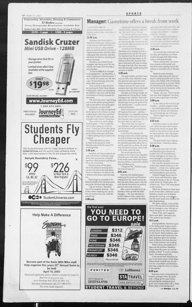 Daily Trojan, Vol. 153, No. 45, October 27, 2004
