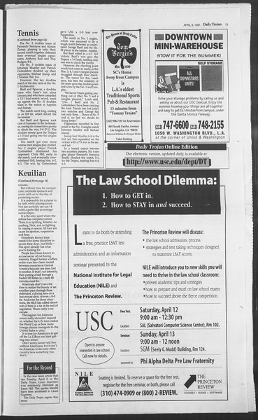 Daily Trojan, Vol. 130, No. 54, April 09, 1997