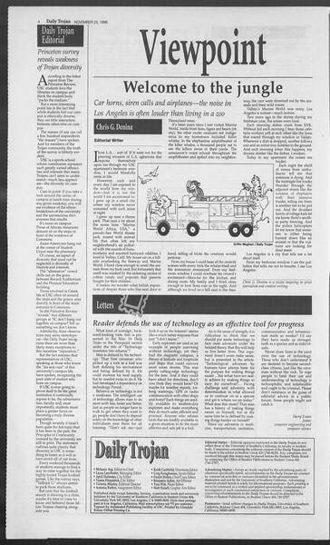 Daily Trojan, Vol. 129, No. 61, November 25, 1996