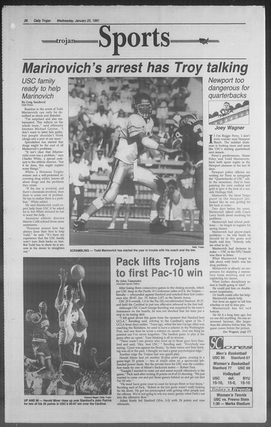 Daily Trojan, Vol. 114, No. 9, January 23, 1991