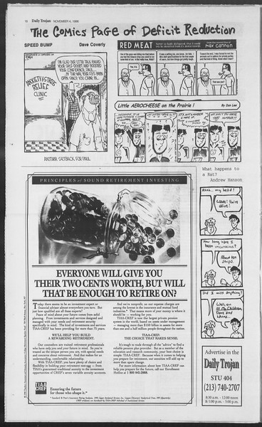 Daily Trojan, Vol. 129, No. 47, November 04, 1996