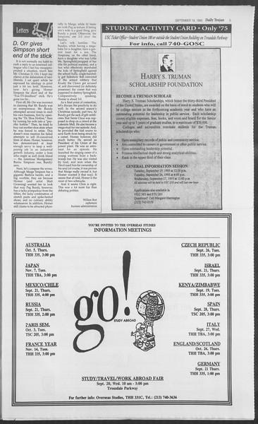 Daily Trojan, Vol. 126, No. 13, September 19, 1995