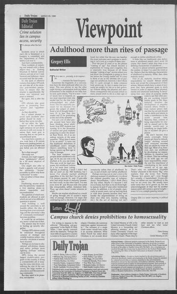 Daily Trojan, Vol. 127, No. 47, March 29, 1996