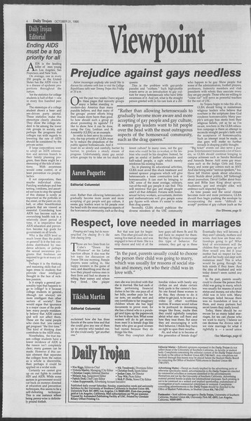 Daily Trojan, Vol. 126, No. 42, October 31, 1995