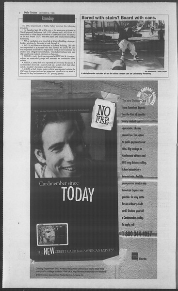 Daily Trojan, Vol. 126, No. 22, October 02, 1995