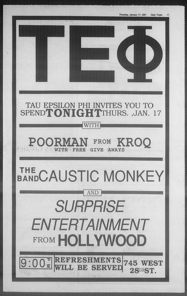Daily Trojan, Vol. 114, No. 7, January 17, 1991